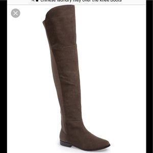 900a983e985 Chinese Laundry Shoes - Chinese Laundry Riley Over The Knee OTK boots gray